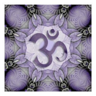 MANDALA OM - violet Posters