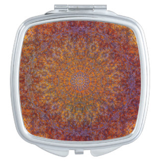 mandala orange makeup mirrors