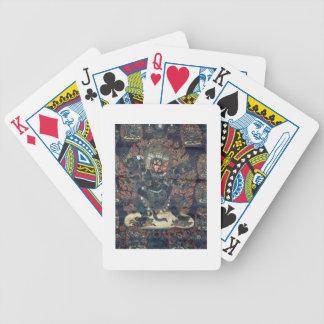 Mandala (painted parchment) poker deck