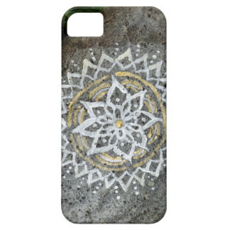 Mandala painted stone iPhone SE + iPhone 5/5S Case