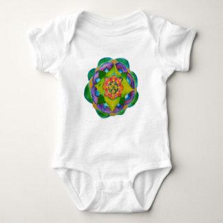 Mandala Painting  Infant Creeper, White Baby Bodysuit