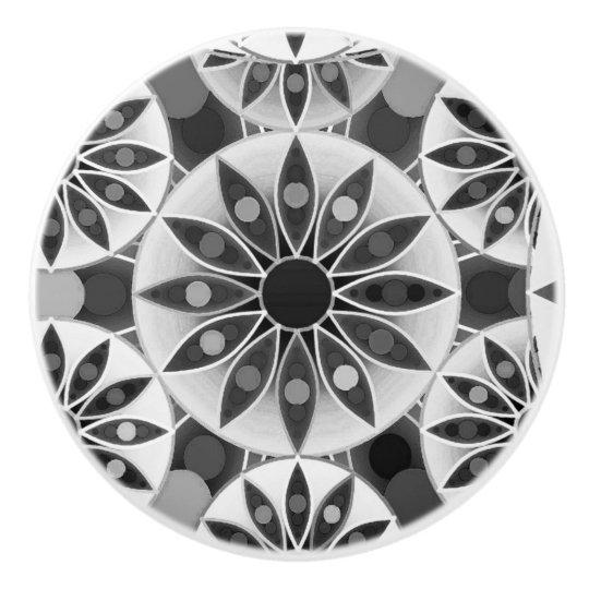 Mandala pattern , black, white and grey /