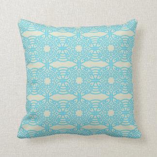 Mandala Pattern Pillow in Baby Blue