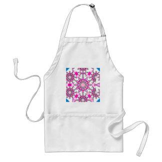 Mandala pattern, pink, hot pink, cobalt blue standard apron