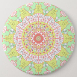 Mandala pattern yoga multi color circle floral 6 cm round badge