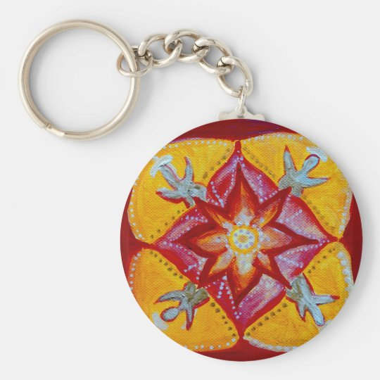 Mandala Peace 5.7 cm Basic Button Key Ring