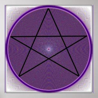 Mandala Pentagram Poster