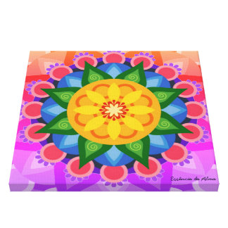 Mandala picture of the Energetic Revitalization Canvas Print