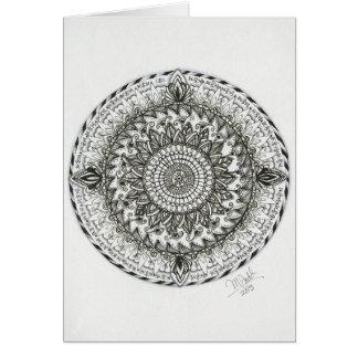 Mandala - Pisces Gemini Zendala card