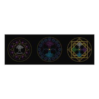 Mandala Print - Trio of Mandalas