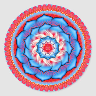 Mandala Rosette Classic Round Sticker