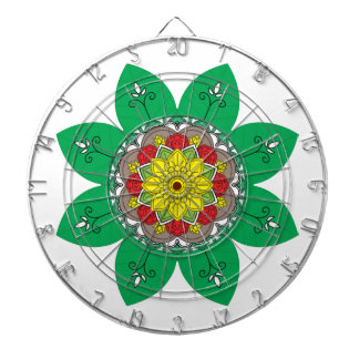 Mandala. Round black and colours oriental pattern. Dartboard