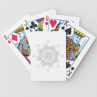 Mandala. Round black and white oriental pattern. Bicycle Playing Cards