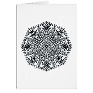 Mandala Round Ornament Card