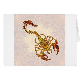 Mandala Scorpion 01 Card