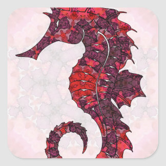 Mandala Seahorse 02 Square Sticker