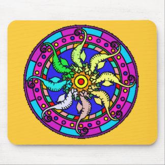 mandala seahorse Mousepad
