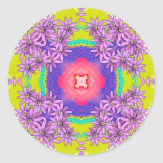 Mandala Series - Passion Flower Round Sticker