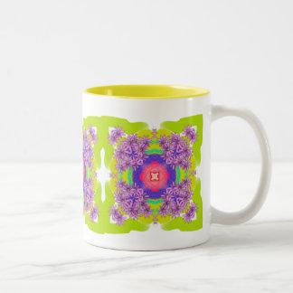 Mandala Series - Passion Flower Two-Tone Mug