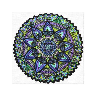 Mandala Shades of Blue Gallery Wrap Canvas
