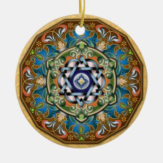 Mandala Shalom Ornament