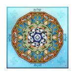Mandala Shalom Stretched Canvas Prints