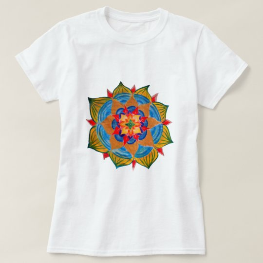 Mandala Shirt Women's Basic T-Shirt, White