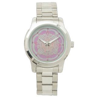 Mandala Silver Bracelet Wrist Watches