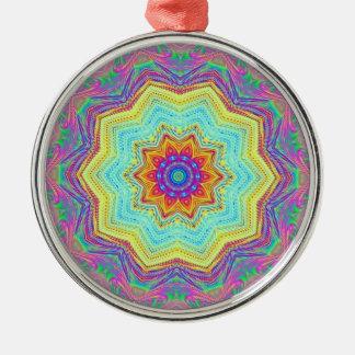 Mandala Silver-Colored Round Decoration