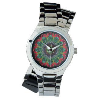 Mandala Silver Wrap-Around Wrist Watch