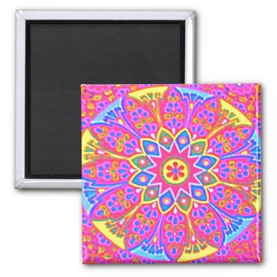 Mandala Square Magnet