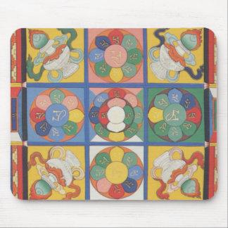 Mandala square mouse mat