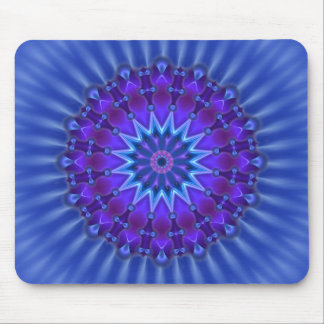 Mandala star in blue | royal flower mouse pad