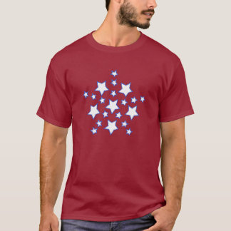 Mandala Star of Stars in Blue Tshirts