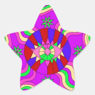 mandala star star sticker