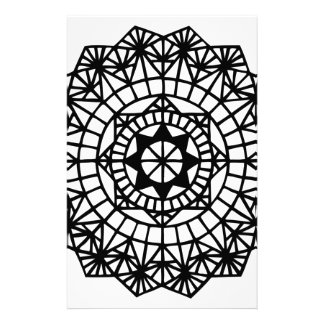 mandala stationery design