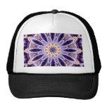 Mandala Stern lila Mesh Hat
