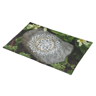 "Mandala stone Nature Photo Placemats 20"" x 14"""