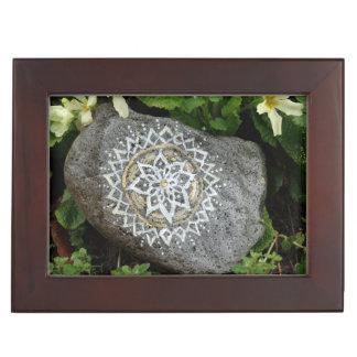 Mandala stone photo Keepsake Box