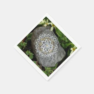 Mandala Stone Photo  Paper Napkins