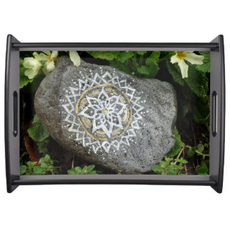 Mandala Stone Serving Tray