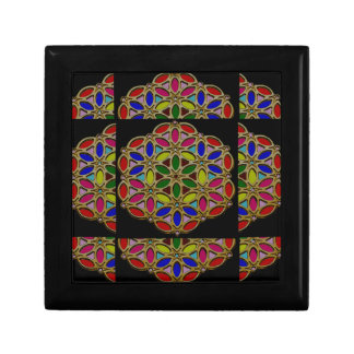 Mandala style Colorful Necklace Pendent designs 99 Small Square Gift Box