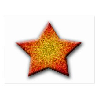 Mandala Sun Star Post Cards