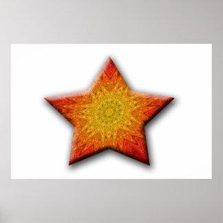 Mandala Sun Star Posters