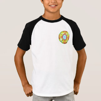 Mandala T-Shirt, Yellow mandala art T-Shirt