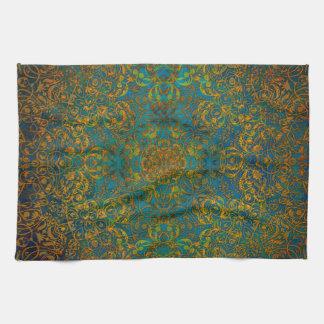 mandala tea towel