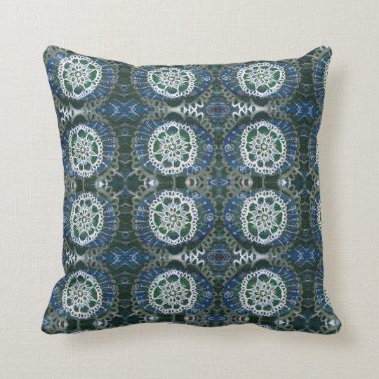 Mandala Throw Cushion 41 x 41 cm Blue