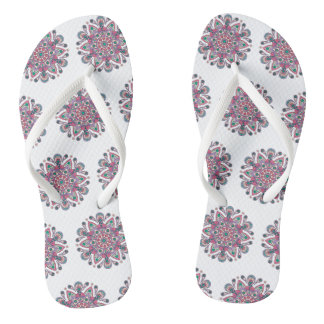 Mandala Tiga Original Purple White Flip Flops