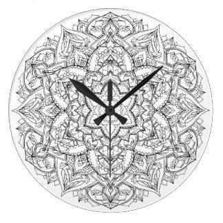 Mandala Time Large Clock