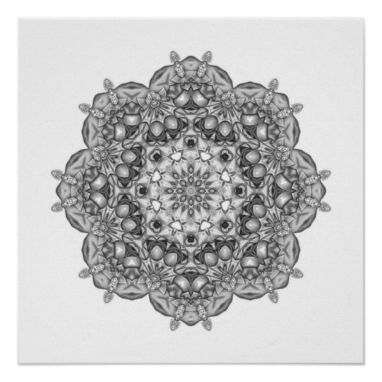 Mandala To Colour In Poster